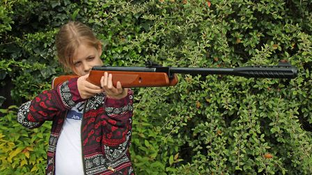 Mia got to grips with this rifle very quickly, and her confidence shows in the results