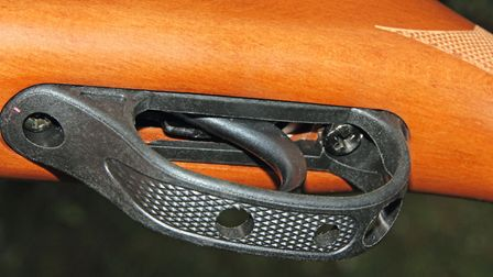 The single-stage trigger is adjustable