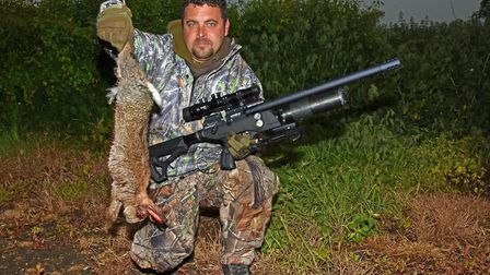 It works! Roger Cooling managed to bag a rabbit with the Commander