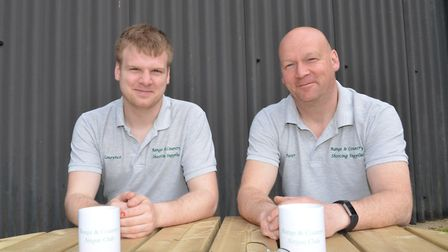 Peter (right) and his son Lawrence have a great business here