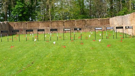 This airgun range is huge, right out to a full 60 yards