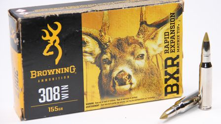 B1 The new Browning BXR ammunition is designed to give a more rapid expansion on deer species avail