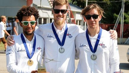 Jake, Matthew and Finn with 2019 World Championship Medals