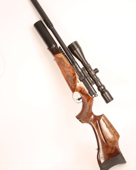 The absolutely stunning, limited edition C & H Weston commemorative rifle.