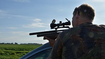 As usual I rezeroed the rifle from the roof of my car prior to hunting