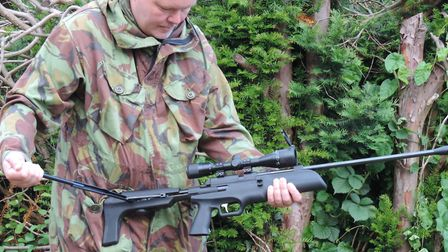 Cocking the sidelever demonstrates the semi-bullpup nature of this spring air rifle.