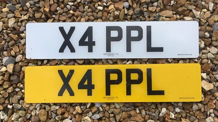 X4 PPL number plate for sale