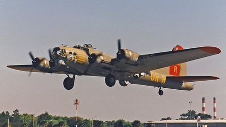 B-17 Flying Fortress Nine-0-Nine was carrying ten passengers on a Living History Flight Experience