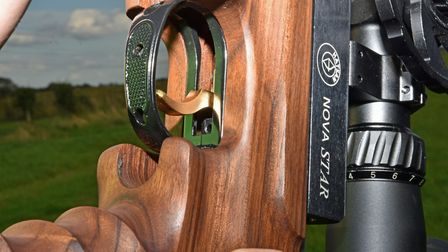The gold-plated trigger and guard - yes really!