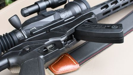 It's easy to grab the magazine and operate the release lever with your thumb for fast changes