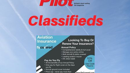 Get 10% off aviation insurance with FlyCovered
