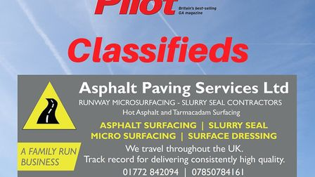 Runway resurfacing available with Asphalt Paving Services Ltd