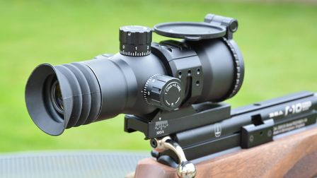 A bellows eye-piece helps when using zero relief scopes like this.
