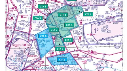 Airspace change around Farnborough Airport comes into effect