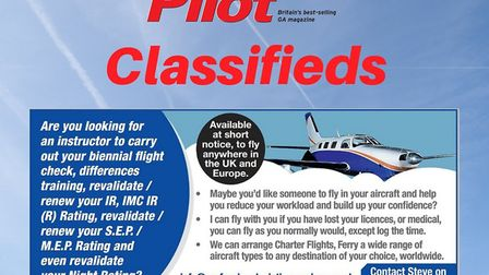 Pilot and instructor available at short notice in UK & Europe
