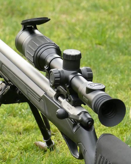 The elegant lines and 30mm tube of the Digex look good on any rifle
