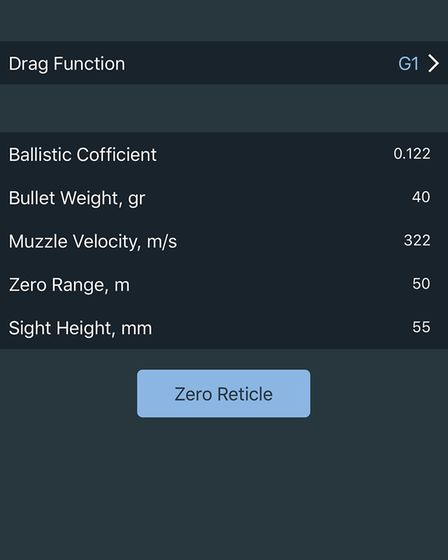 Setting up your ballistics correctly is essential if you intend to generate additional zeros within