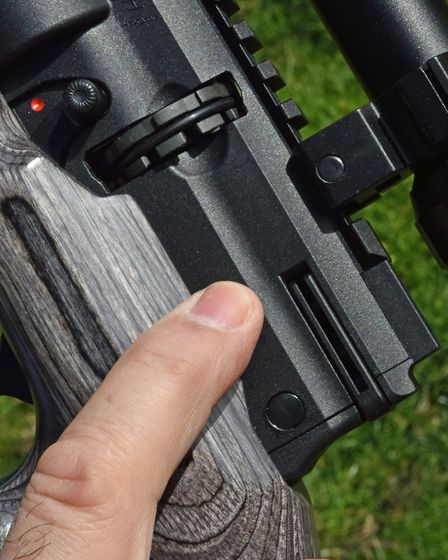 That's where I'd like the magazine release lever to be.