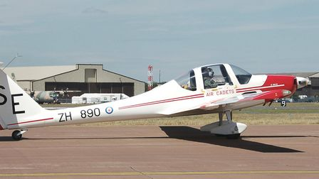 The Grob 109B motor glider, known by the RAF as the Vigilant T1, is used by the Air Cadet Organisati