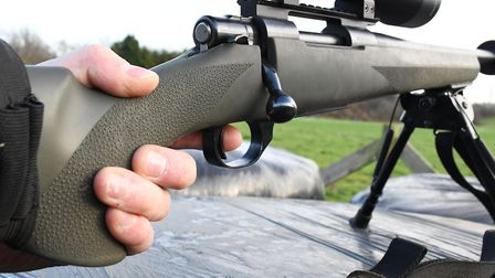 Two stage HACT trigger on the Howa, not quite as crisp as the single stage unit on the Sauer 100 Kee
