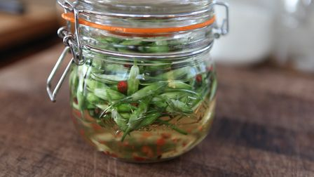"""Game for Anythinf """"pickled wild garlic bud"""" recipe - great accompaniment to fish and game meat such"""
