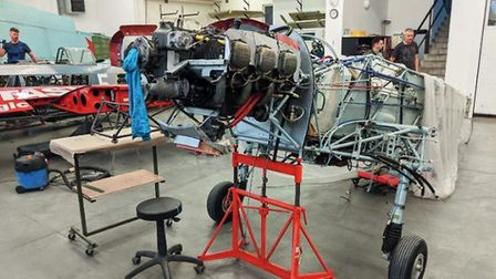 Lycoming engine installed in Zlin 526