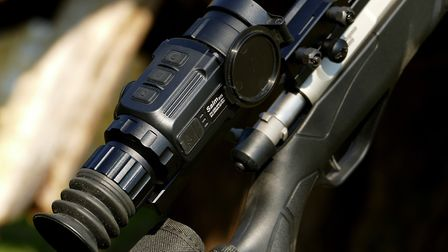 The size and relatively short eye relief means the scope does come a long way back on the supplied r