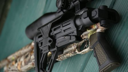 The AR15-style butt is not only adjustable, it folds for convenient storage.