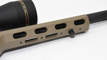 Similarly, the underside of the forend is ready for additional Picatinny rail etc