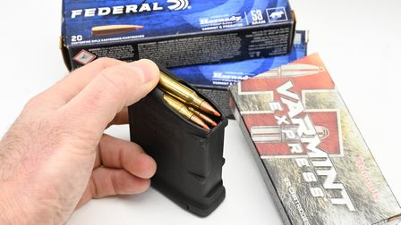AR-15 derived magazines like this P-Mag are easily available accessories and spares