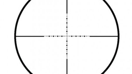 The half Mil Dot reticle is crystal clear