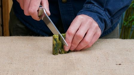 Moderate pressure is the key when using a pocket sharpener