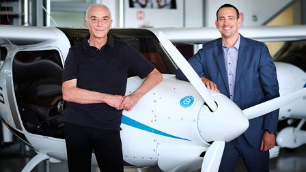 Ivo Boscarol, founder and president of Pipistrel with François Randin, founder and CEO of Green Moti