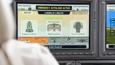The HomeSafe autoland system also briefs passengers with a video