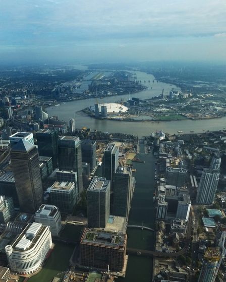 London City Airport and Thames Barrier