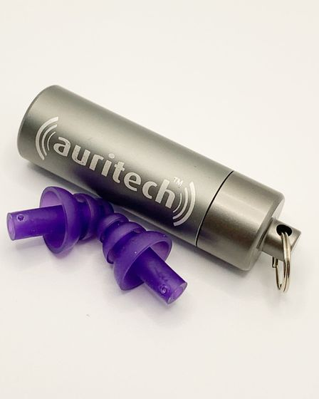 The universal-fit plugs come with a really handy container that attaches to your keyring so you'll n