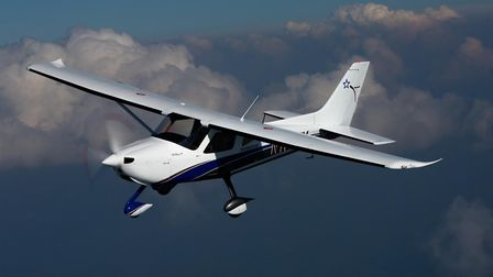 The eColt is a high-wing, all metal, fully electric aircraft based on the popular Colt S-LSA two-sea