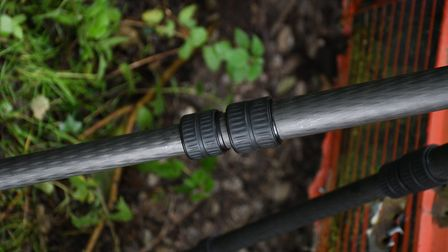 Leg extensions lock with a quarter turn on the easily gripped rubber collars