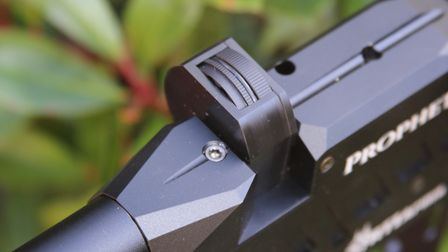 The magazine can be slotted in from either side. It's a clever touch, but make sure you load the pel