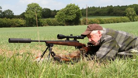 The elevating cheekpiece whilst prone was a help to get correct eye alignment and the Hawke scope wa