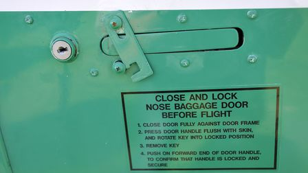 Safety latch added after incidences of nose door springing open in flight (Credit: Keith Wilson)