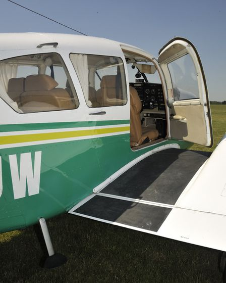 in the Piper tradition and interest of structural integrity, there's just the one cabin door (Credit