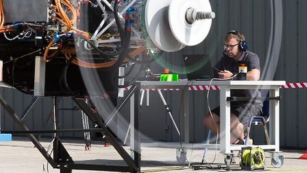 """Testing of the engine was conducted on the company's """"ionBird"""" test airframe"""