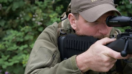 Slim shoulder straps do not interfere with rifle placement in the shoulder