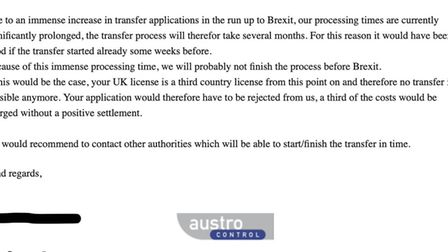 The Austrian Authorities recommend trying other EASA member states to get a transfer of licence