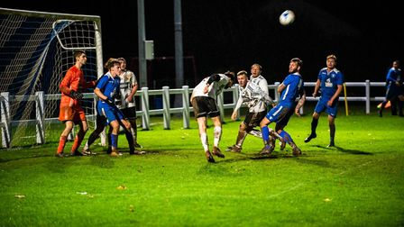 Winscombe were playing under their new floodlights for the first time against Wrington Redhill at t