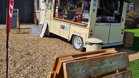 Sarah Pavey is selling essential items from her vintage van, Toot Sweet, as well as a selection of