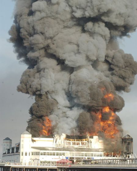 Mark covered the Grand Pier fire in 2008.