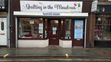 The Quilting in the Meadows store on Meadow Street.