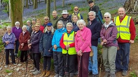 Hazel with her walking group from Portishead.